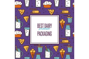 Best dairy product seamless pattern