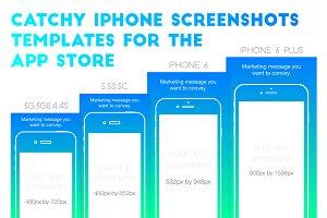 iPhone AppStore Screenshots Template
