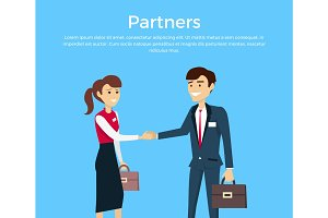 Partners Concept Vector in Flat Design
