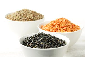 Assorted dried lentils