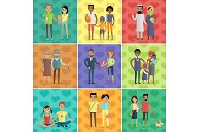 People of world vector concept in flat design