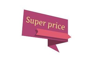 Super Price Vector Pointer In Flat Design