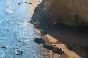 Praia da Afurada, Portugal.