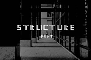 STRUCTURE geometric modern font