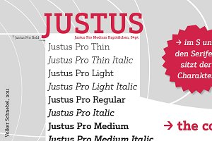 Justus Pro Volume with 10 Styles