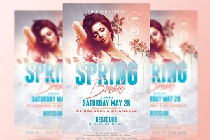 Spring Break Flyer - Psd Template