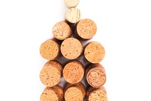Wine corks bottle