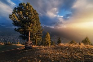 Evening light Val Gardena