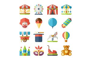 Carnival flat icons
