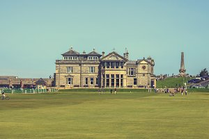 Famous clubhouse at Saint Andrews
