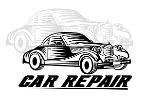 Car repair logo team