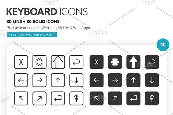Keyboard Icons