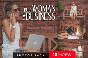 Busy woman make business /15 pics