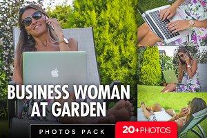 Business woman at garden /20+pics