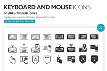 Keyboard and Mouse Icons