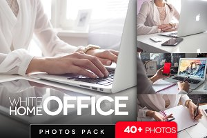 White home office pack /40+pics