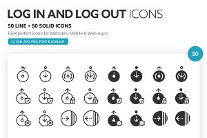 Log in and Log out Icons