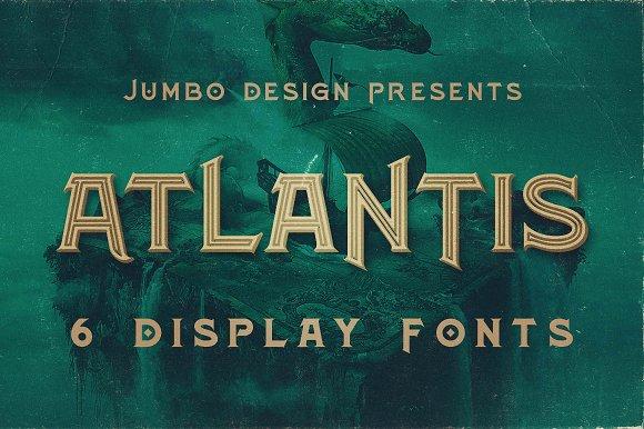 Atlantis Vintage Style Font