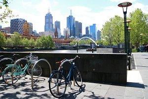 City with bikes