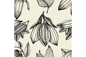 Cocoa Vector seamless pattern.