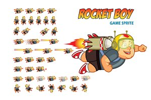 Rocket Boy Game Sprite