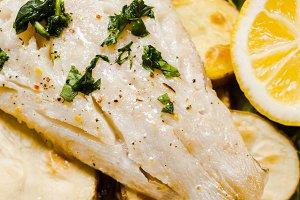 Baked cod fillet