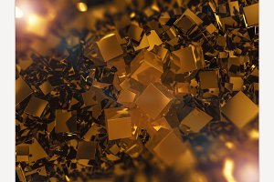 Abstract square gold background.