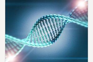 Digital illustration of a DNA