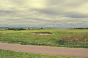 Famous golf course in St Andrews