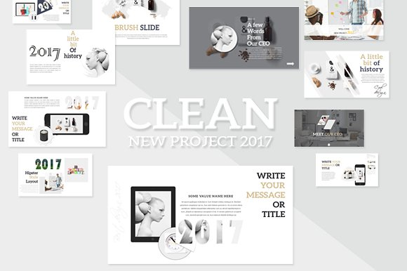 Clean Powerpoint Presentation Presentation Templates Creative Market