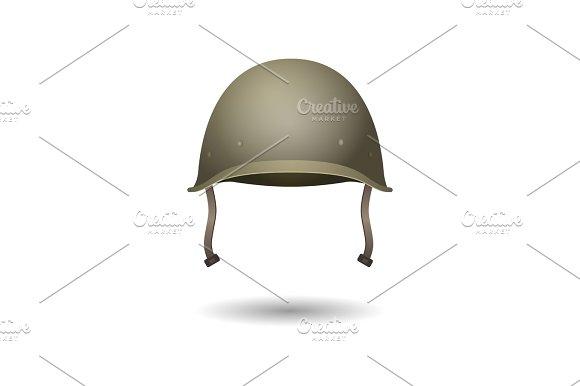 Military Classical Green Helmet Infantry Wear Of Second World War