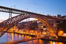 Dom Luis bridge. Porto, Portugal