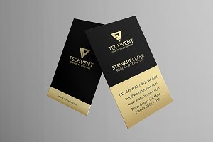 Gold Corporate Business Card