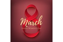 Greeting card for International Womens Day.