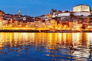 Porto twilight panoramic view