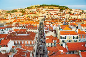 Lisbon Old Town overview, Portugal