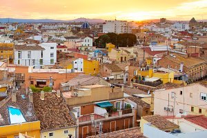 Valencia top view, Spain