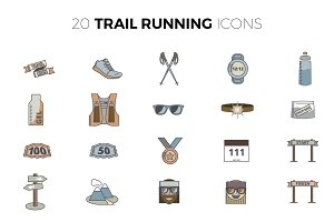 Trail Running Icons