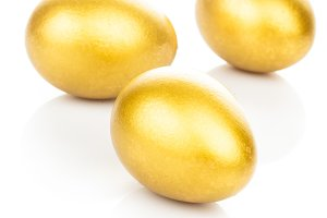 golden eggs isolated