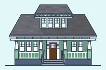 Craftsman House Illustration