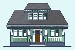 Craftsman House Illustration