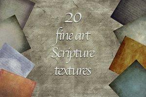 SCRIPTURES - 20 fine art textures
