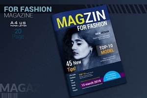 Clean Fashion Magazine Template