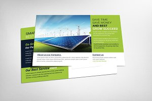 renewable energy go green flyer flyer templates creative market. Black Bedroom Furniture Sets. Home Design Ideas