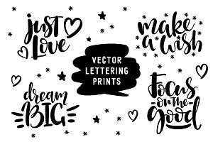 Motivational Letterings (Vector)