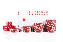 Poker set on white isolated.