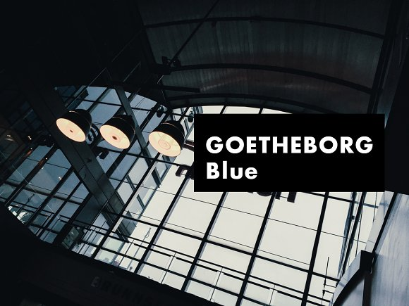 GOTHENBURG Blue Lightroom Preset