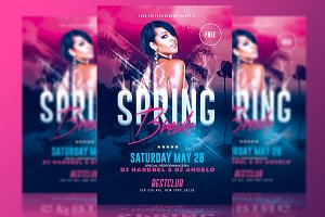 Spring Break Party - Psd Template