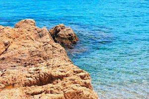 Sea rocky coast, Spain.