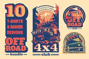 -30% Off-Road 4x4 T-Shirts Badges